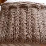 tricoter modele echarpe #10