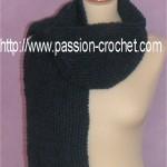 tricoter modele echarpe #15