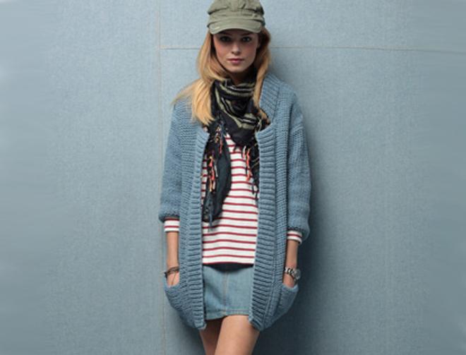 tricoter modele gilet #3