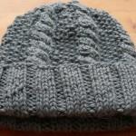 photo tricot modèle bonnet tricot point de riz 10
