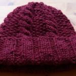 photo tricot modèle bonnet tricot point de riz 12