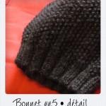 photo tricot modèle bonnet tricot point de riz 13