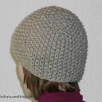 photo tricot modèle bonnet tricot point de riz 2