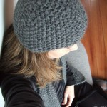 photo tricot modèle bonnet tricot point de riz 6