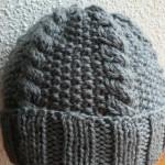 photo tricot modèle bonnet tricot point de riz 9