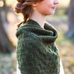 photo tricot modèle chale tricot débutant 14