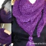 photo tricot modèle chale tricot débutant 17