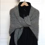 photo tricot modèle chale tricot débutant 4