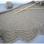 photo tricot modèle chale tricot débutant 9