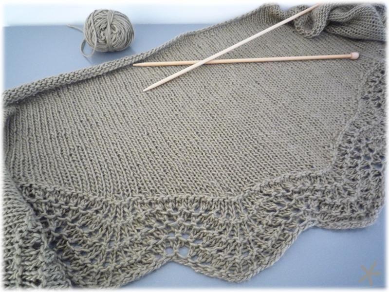 Photo tricot mod le chale tricot d butant 9 - Cote 2 2 tricot ...