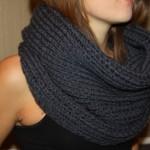 photo tricot modèle tricot écharpe bergère de france 10