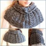 photo tricot modèle tricot écharpe bergère de france 4