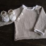 photo tricot modèle tricot bébé facile 14