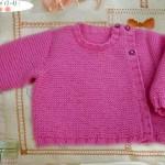 photo tricot modèle tricot bébé facile 15