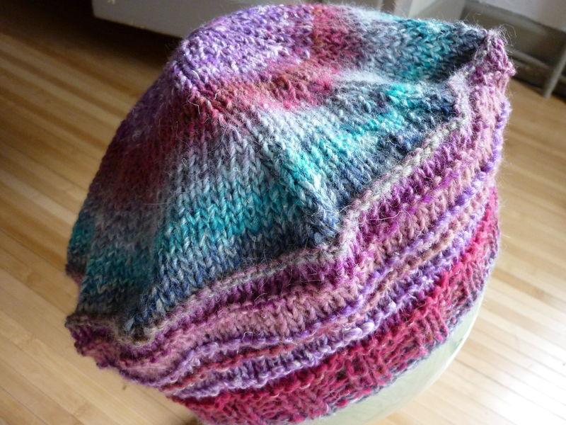 photo tricot modèle tricot béret 6