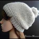 photo tricot modèle tricot bonnet pompon 11