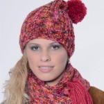 photo tricot modèle tricot bonnet pompon 12