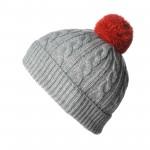 photo tricot modèle tricot bonnet pompon 13