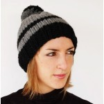 photo tricot modèle tricot bonnet pompon 14