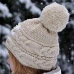 photo tricot modèle tricot bonnet pompon 15