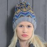 photo tricot modèle tricot bonnet pompon
