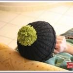 photo tricot modèle tricot bonnet pompon 18