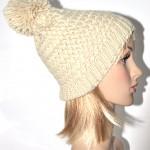 photo tricot modèle tricot bonnet pompon 2