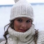 photo tricot modèle tricot bonnet pompon 4