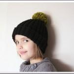 photo tricot modèle tricot bonnet pompon 6