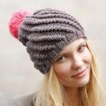 photo tricot modèle tricot bonnet pompon 7