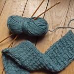 photo tricot modèle tricot echarpe qui ne roule pas 18