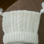 photo tricot modèle tricot facile bonnet bébé 16