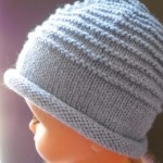photo tricot modèle tricot facile bonnet bébé 17