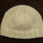 photo tricot modèle tricot facile bonnet bébé 2