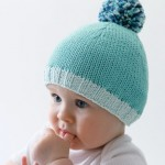 photo tricot modèle tricot facile bonnet bébé 6