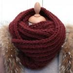 photo tricot modèle tricot facile snood homme 10