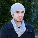 photo tricot modèle tricot facile snood homme 16