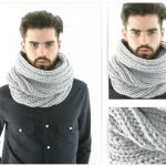 photo tricot modèle tricot facile snood homme 3