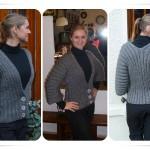 photo tricot modèle tricot femme gilet 16