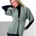 photo tricot modèle tricot femme gilet 17