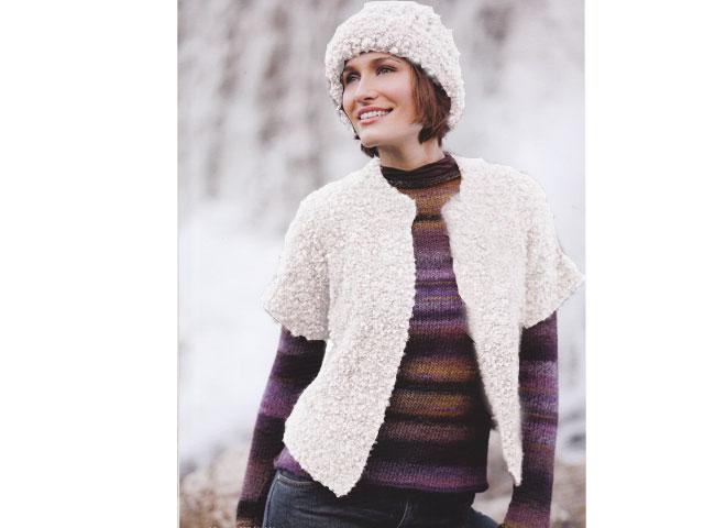 photo tricot modèle tricot femme gilet 4