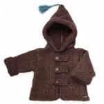 photo tricot modèle tricot gilet capuche fille 10