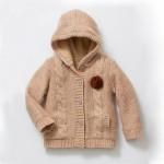 photo tricot modèle tricot gilet capuche fille 12