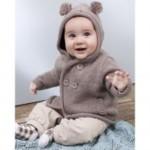 photo tricot modèle tricot gilet capuche fille 14