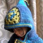 photo tricot modèle tricot gilet capuche fille 16