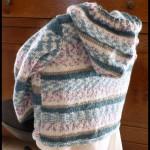 photo tricot modèle tricot gilet capuche fille 3