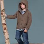 photo tricot modèle tricot gilet capuche fille 4