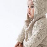 photo tricot modèle tricot gilet capuche fille 5