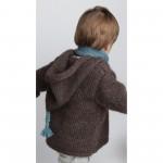 photo tricot modèle tricot gilet capuche fille 7