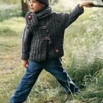 photo tricot modèle tricot gilet capuche fille 9